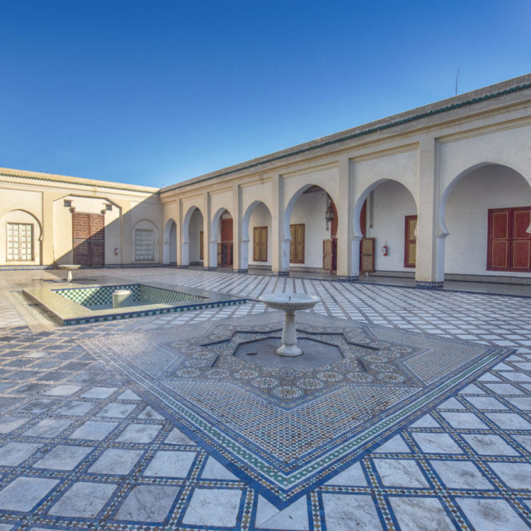 View of the inner courtyard of the Dar Batha museum